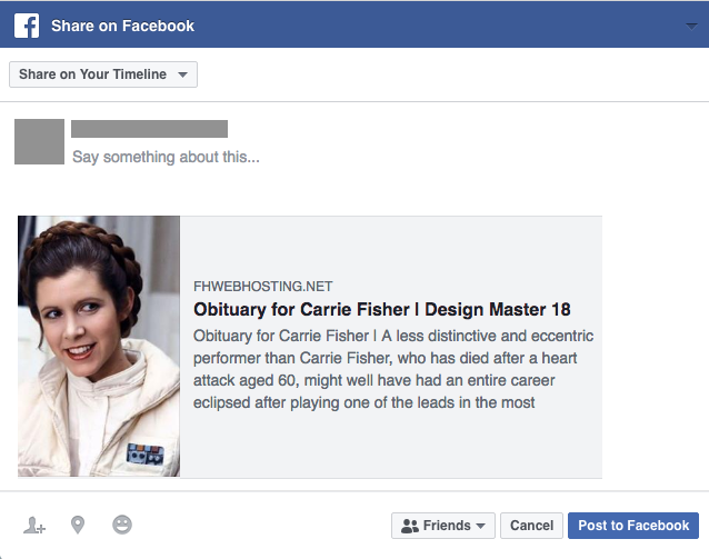 Share an Obituary to Facebook